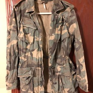 Free people camo utility jacket